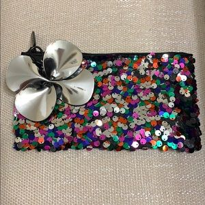 Rainbow Sequenced makeup bag/clutch